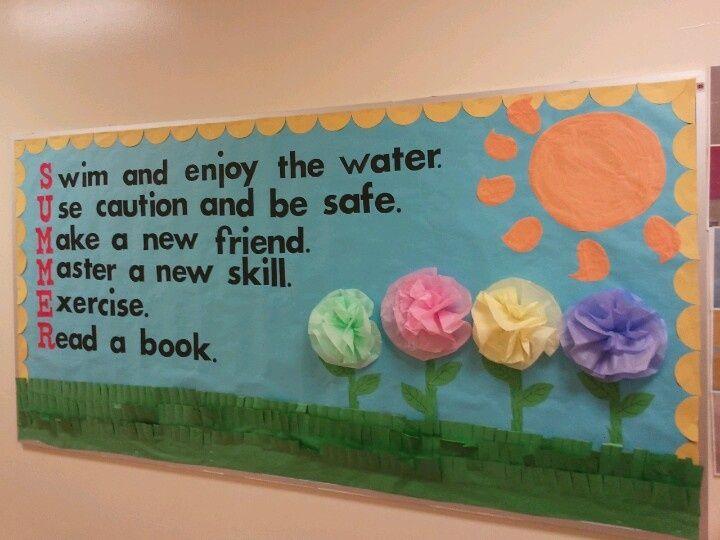 summer bulletin boads | Summer bulletin board- like the 3-D flowers | Bulletin Board ideas