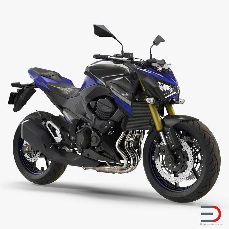 3D Standard Motorcycle Kawasaki Z800 2016