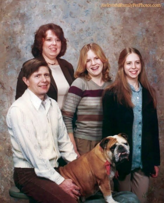 Bizarre family pictures. Who thought of these poses?!! Lol