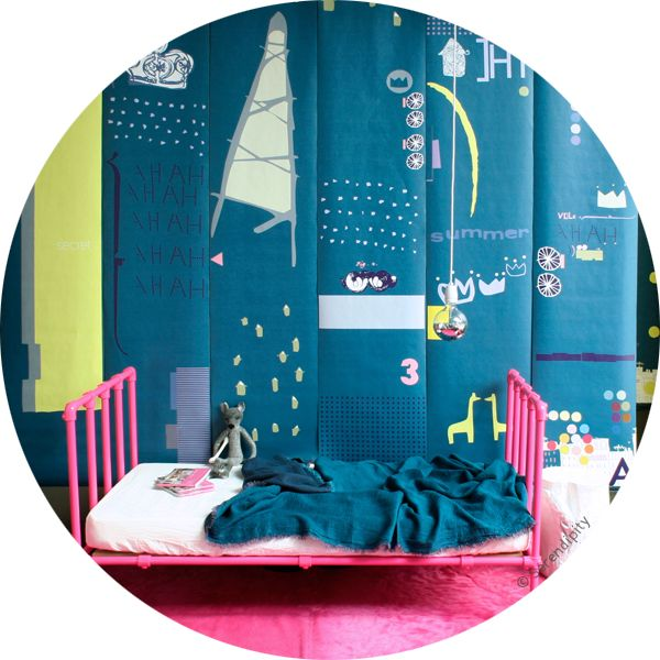 décor mural de 7 lés 'Hi Summer!' .:serendipity.fr:.