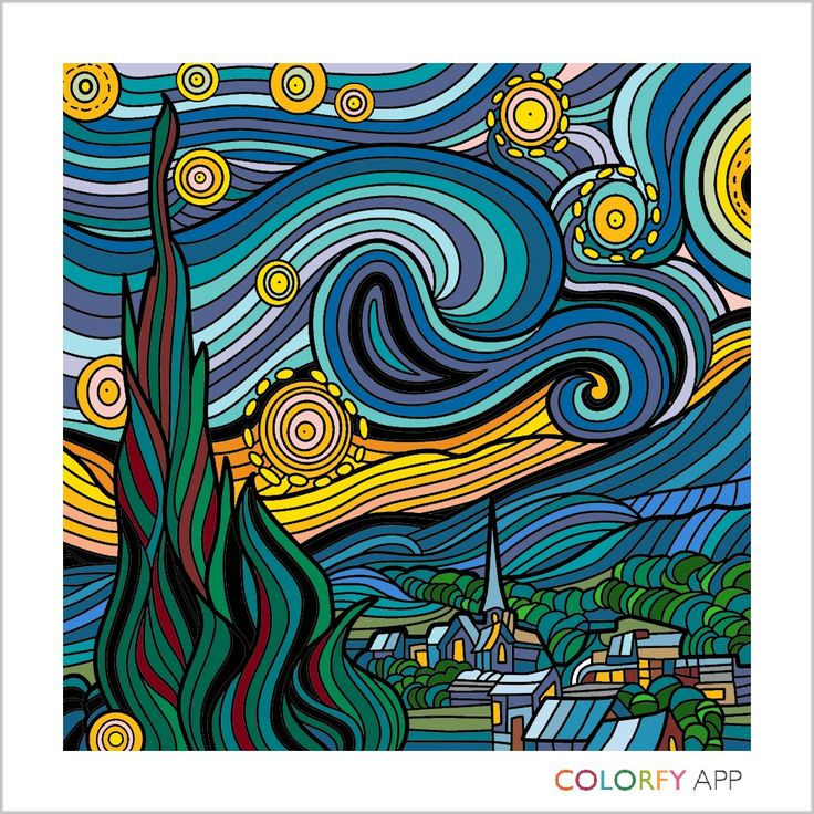Done by moi After Van Gogh in the Colorfy App