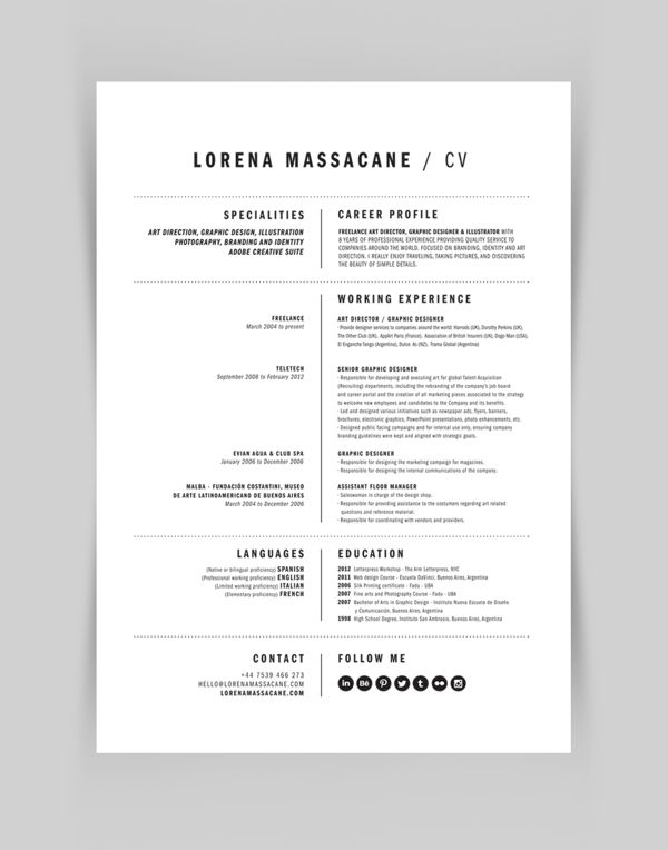 Personal Branding by Lorena Massacane, via Behance