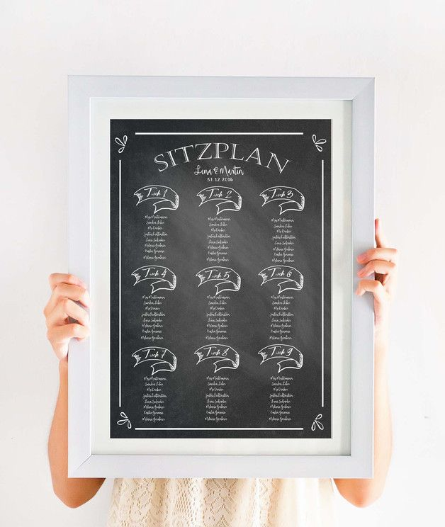 **Personalisierter gedruckter Sitzplan (Poster) für eure Hochzeit**  Maße BxH         60 x 80 cm Art              Poster Anzahl Gäste     max. 80 (auf Anfrage passe ich euch den Plan für mehr...