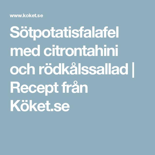 Sötpotatisfalafel med citrontahini och rödkålssallad | Recept från Köket.se