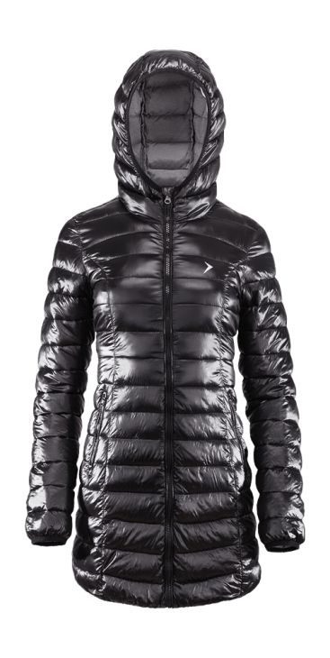 Down winter coat with Bionic Eco finishing, which increases the level of fabric breathability and moisture protection. Made of lightweight, soft textile, will be perfect for cold days and long winter walks.   Benefits: -integrated hood, helps to keep the warm -two functional pockets -protection from rain and wind