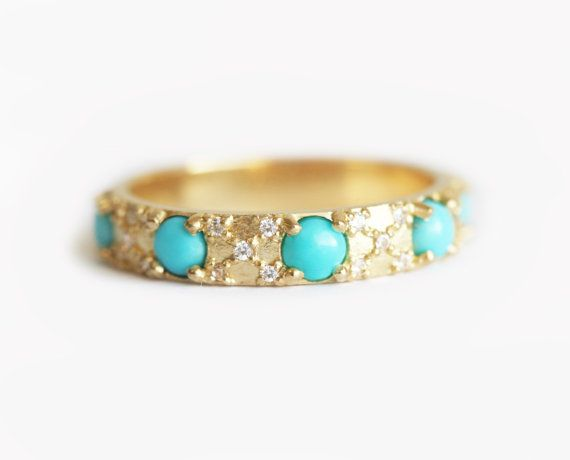 25+ best ideas about Turquoise wedding rings on Pinterest ...