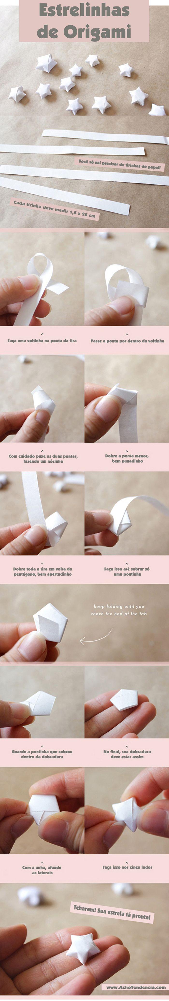 Acho Tendência | Giovana Quaglio: Como fazer Origami de Estrelinha