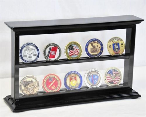 Challenge Coin Display Case Rack Holder Cabinet by Displays4You