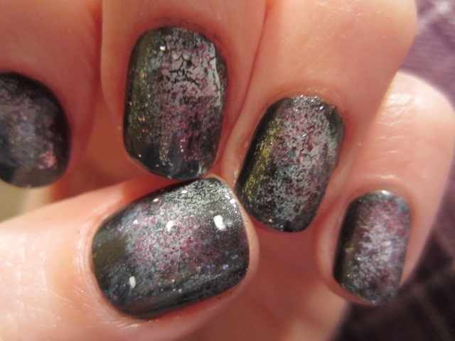 Check off my list!!  Galaxy nails...  far out!