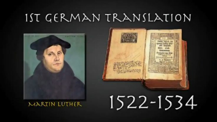 An analysis of the martin luther and bible translation
