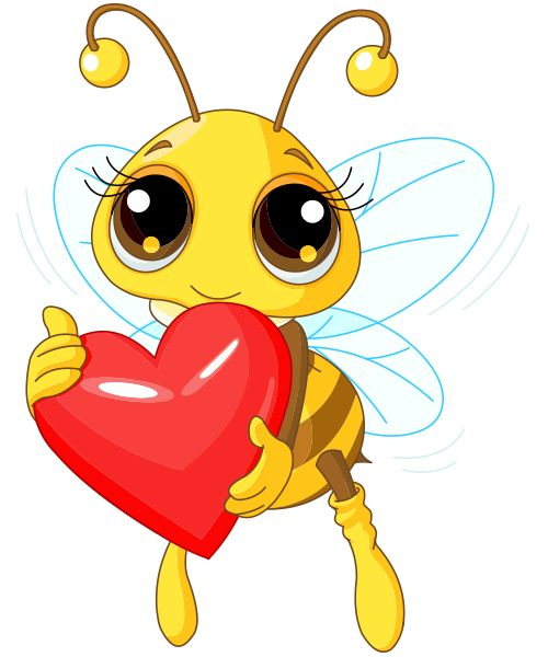 Bee with a heart