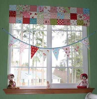 love this patchwork valance! (love this blog, period)