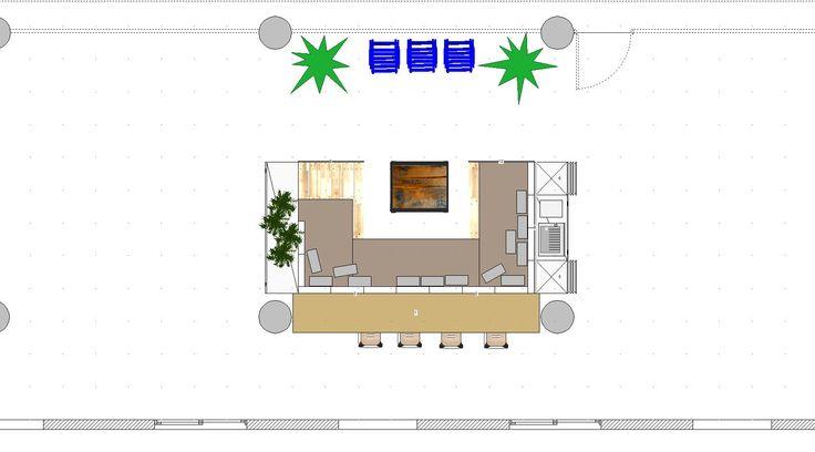 Plan de dessus du canapé en palette