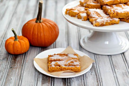 "Name: Cinnamon Roll Pumpkin Vanilla Sheet Cake • Description: ""Makes ..."