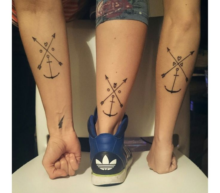Por3//amigas//friendship Crossed arrow//