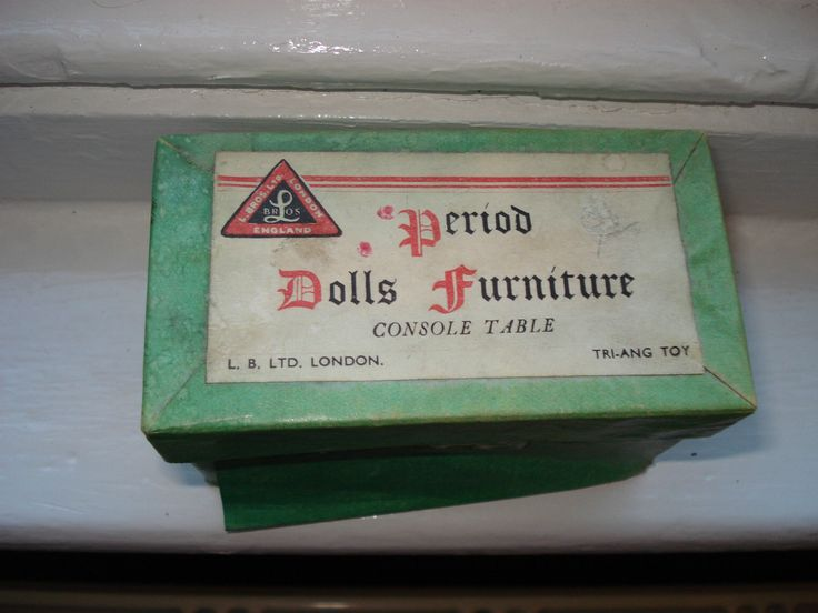 Vintage Dolls' House Triang Lines Bros Period Furniture Console Table in Box | eBay