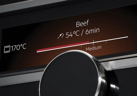 """If you love cooking and are always dreaming of creating MasterChef style dishes in your own home then you will love this new oven from AEG. SenseCook is one of the new Mastery kitchen products, a range offering the world's first responsive kitchen experience.This innovative oven takes the temperature out of cooking, using a """"CommandWheel"""" instead.  You select the outcome rather than the temperature or a number in Celsius or Fahrenheit. You say you want a medium-well steak, for example."""