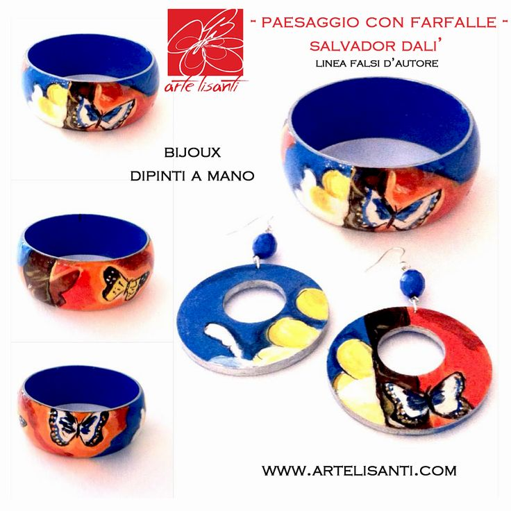 "-Bijoux dipinti a Mano. Linea Falsi d'Autore : ""Paesaggio con Farfalle"" di Salvador Dalì www.artelisanti.com Per informazioni su prezzi, punti vendita e spedizioni scrivete qui in privato nella pagina o inviate una mail a info.artelisanti.com  Hand-painted Bijoux. Author's fake copy line: ""Landscape with Butterflies"" by Salvador Dalì  www.artelisanti.com For informations on price, shop and shipment send here a private message or mail to info@artelisanti.com"