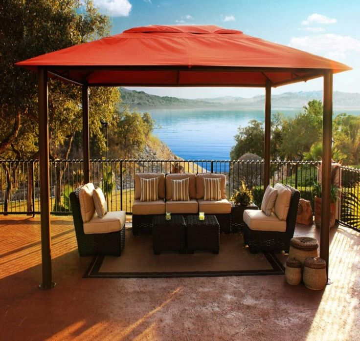 stunning gazebo design ideas with outdoor furniture in beach house futuristic and modern gazebo design in - Outdoor Design Ideas