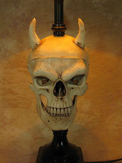 279 best home deco skulls images on pinterest skull art desk lamp w evil harvey skull and bone shade halloween prop skulls new aloadofball Gallery