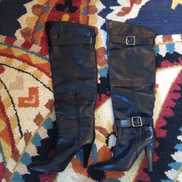 Coach Shoes - Coach Monet Leather Over Knee Boots