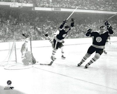 Bobby Orr THE GOAL (1970 Stanley Cup Winner) Poster Print - Boston Bruins Hockey, Diving Flying Cel