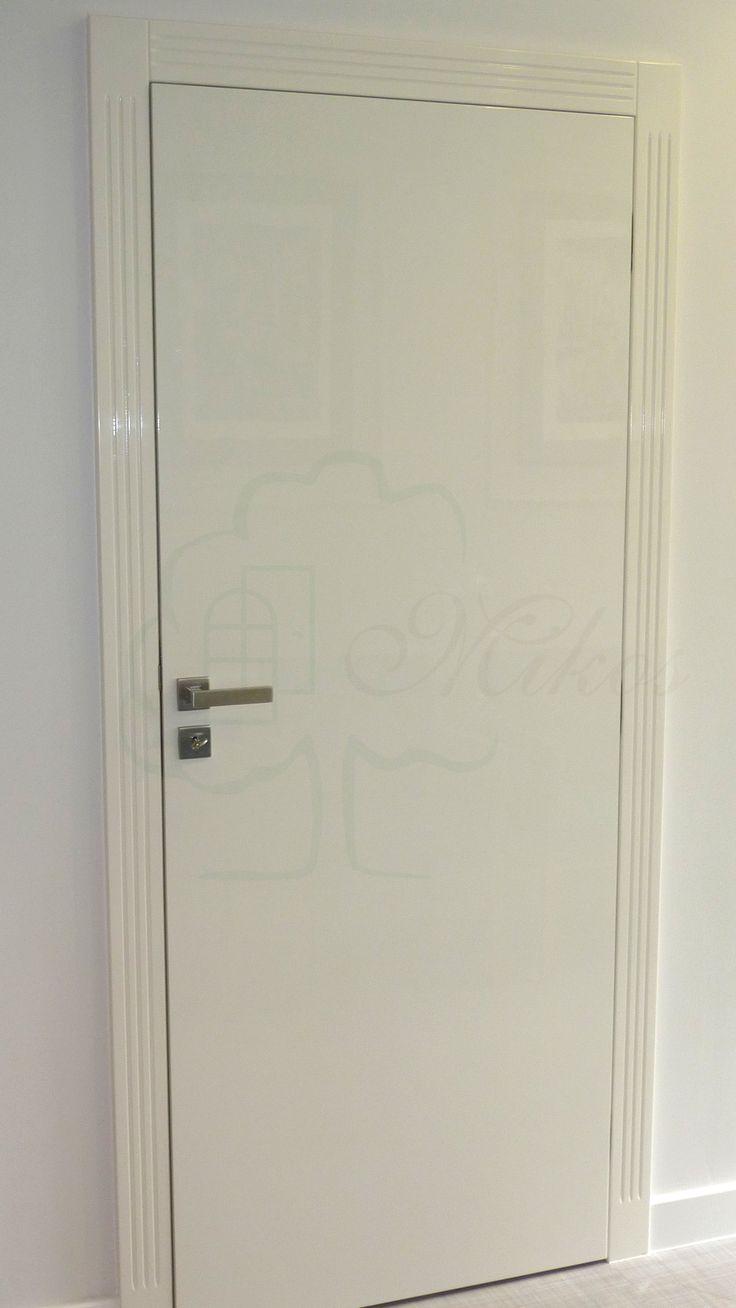 Drzwi nowoczesne płaskie białe