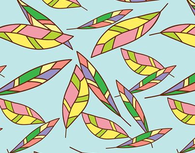 """Check out new work on my @Behance portfolio: """"Falling Feathers: Pattern Design"""" http://be.net/gallery/63211797/Falling-Feathers-Pattern-Design"""