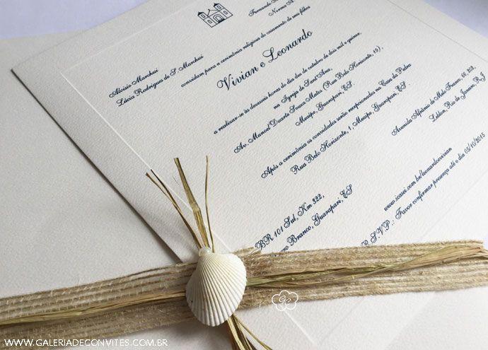 Convite de casamento. Modelo 64