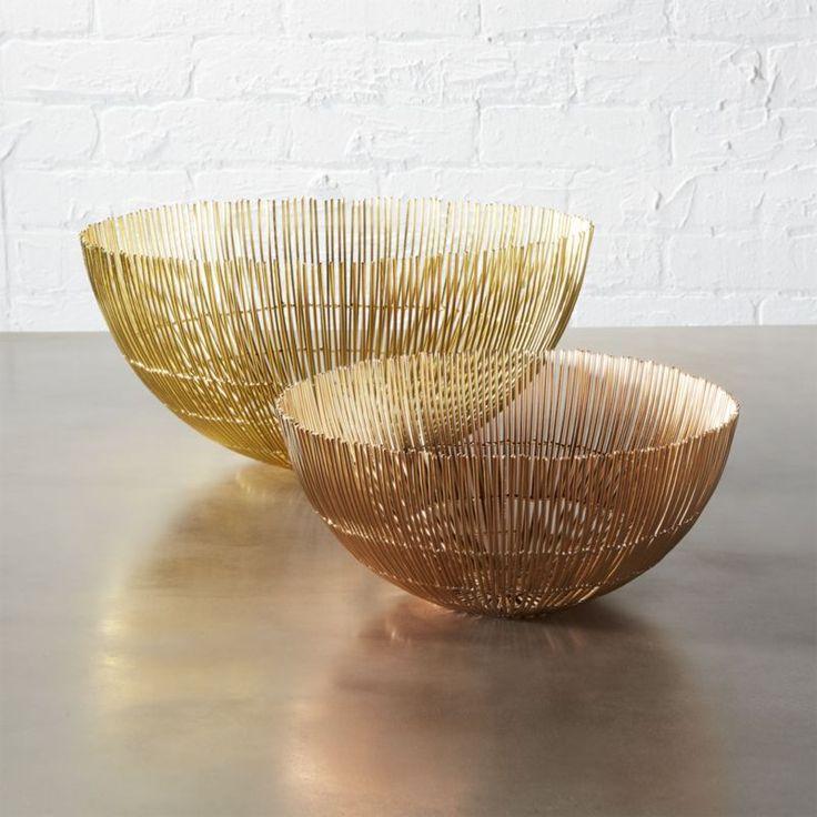 soleil wire bowls | CB2