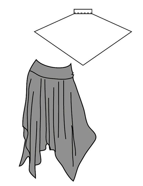 Custom Knit Handkerchief Skirt Modest Pick Color Custom to Your Measurements