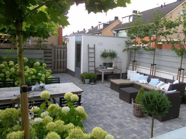 Danish courtydard - landscaped for all seasons!