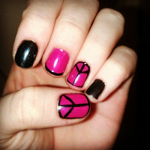 Peace sign nails!