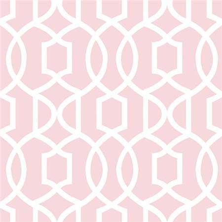 Pink Grand Trellis Peel And Stick Wallpaper by NuWallpaper ...