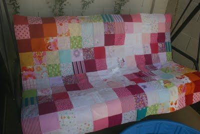 Baby Clothes Quilt- such a sweet idea to use bits of your little one's clothes in this keepsake quilt. Via Honeybee Vintage