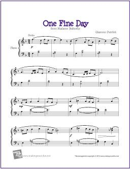 One Fine Day (Madame Butterfly) | Free Sheet Music for Piano