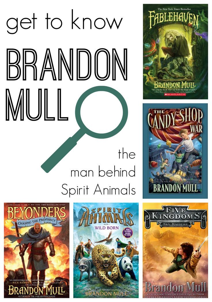 For Kids Who Love the Spirit Animals: Get to Know Brandon Mull The first Spirit Animals book is not the only title this author has written!  A MUST read!