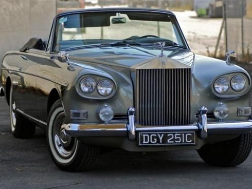 in my 10 car garage ----1963 Rolls-Royce Park Ward Drophead Coupe