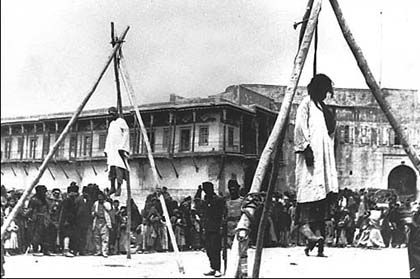 Genocide Museum | The Armenian Genocide Museum-institute Armenians hanged in the street in Constantinople