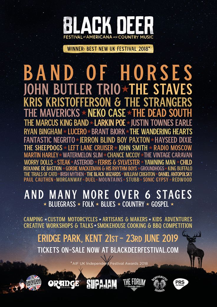 The Staves Kris Kristofferson The Strangers The Mavericks Neko Case The Marcus King Band And Many More Revealed For Blac Black Deer Uk Festivals Festival