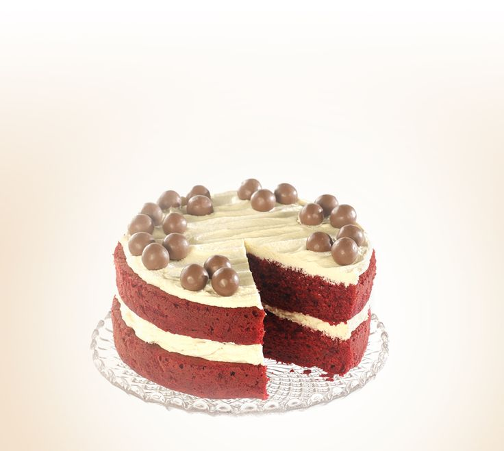Get the recipe for a delicious Maltesers red velvet cake for your bake sale and help #bakeamillion for Red Nose Day.