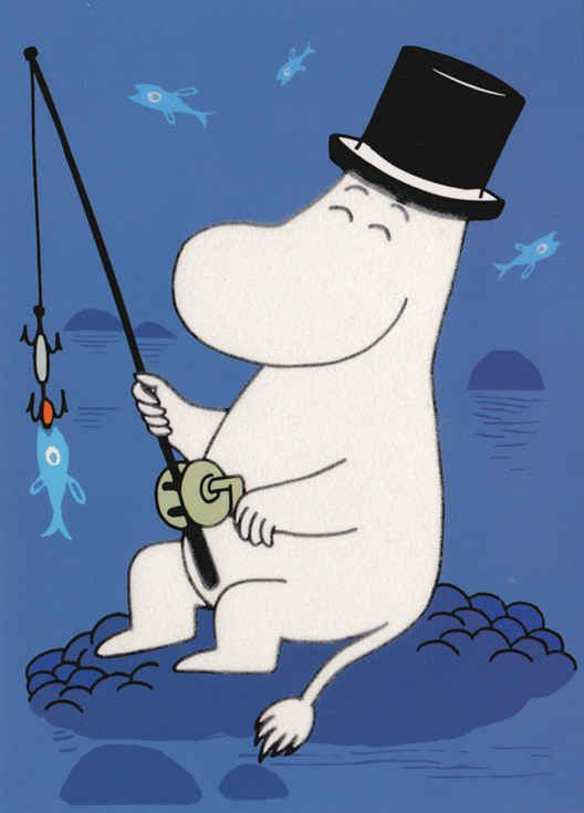 The adventurous Moominpappa, with his top hat and seafaring nature, was based on Jansson's storm-chasing father.