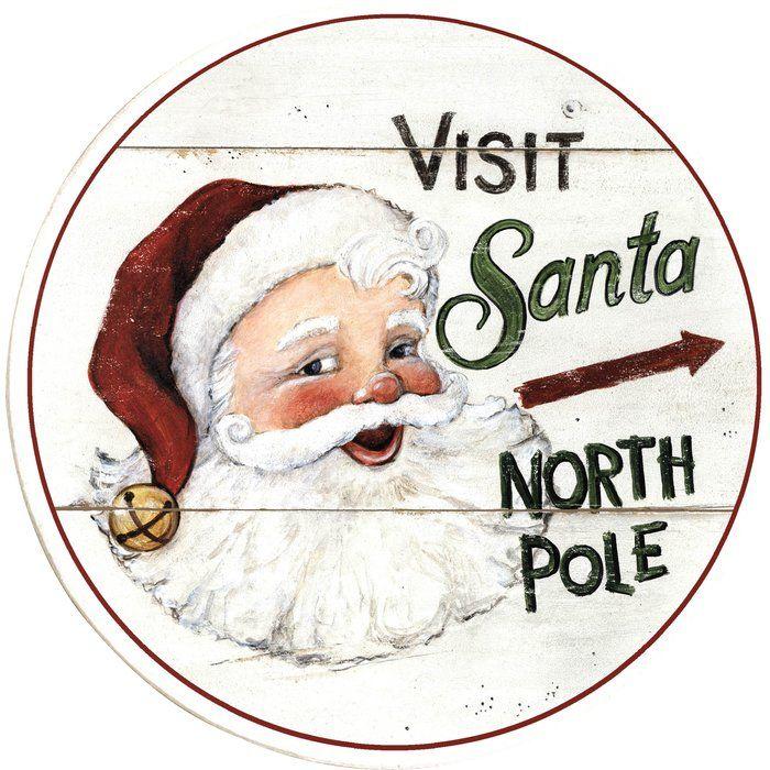 Visit Santa North Pole Graphic Art Plaque
