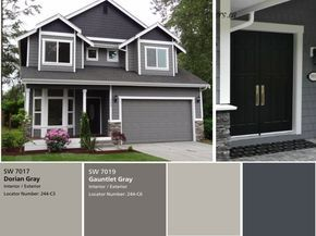 We have the exterior painted already with sherwin williams - Sherwin williams black fox exterior ...
