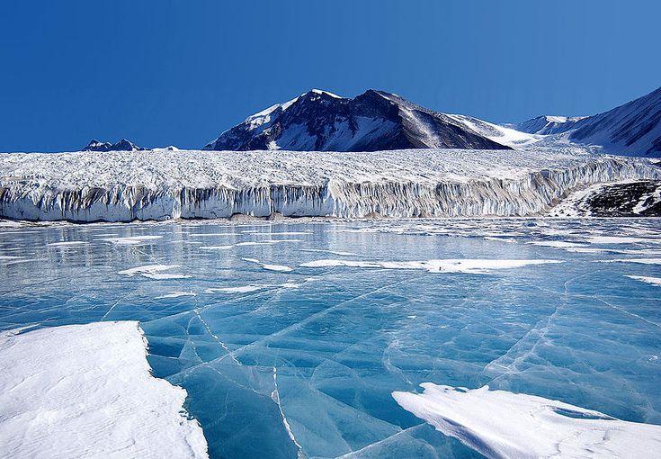 Blue Ice in Antarctica