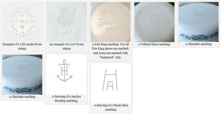 Anchor Hocking Milk Glass Markings