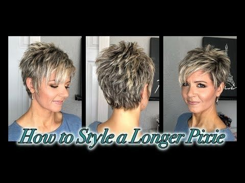 Hair Tutorial: Styling a Longer Pixie without Spikes! – YouTube –