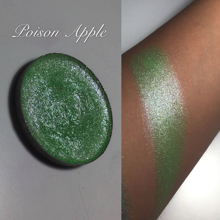Poison apple single eyeshadow pan by EnchantedLustre on Etsy https://www.etsy.com/listing/490559220/poison-apple-single-eyeshadow-pan