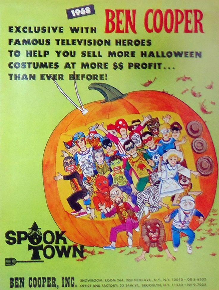 """1968 Ben Cooper """"Spook Town"""" Halloween Costume Catalog"""