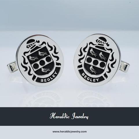 Begley family crest cufflinks